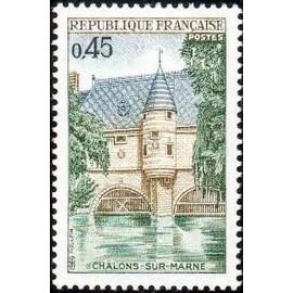 France Yvert Num 1602 ** Chalons sur Marnes  1969
