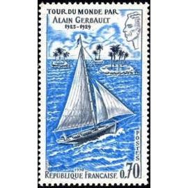France Yvert Num 1621 ** Gerbault Bateau  1970