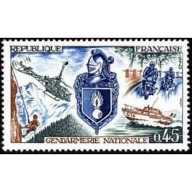France Yvert Num 1622 ** Gendarmerie  1970