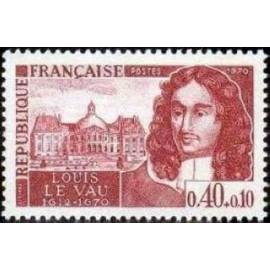 France Yvert Num 1623 ** Louis Le Vau  1970