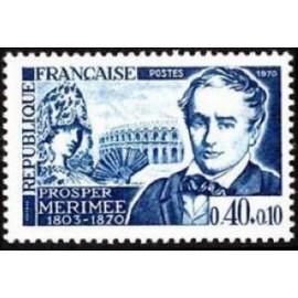 France Yvert Num 1624 ** Prosper Merimée  1970