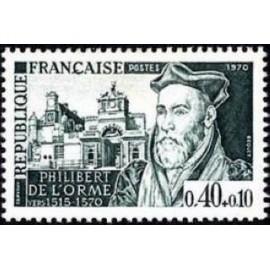 France Yvert Num 1625 ** Philibert de L'Orme  1970