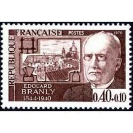 France Yvert Num 1626 ** Edouard Branly  1970
