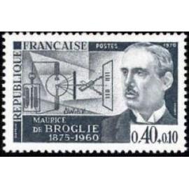 France Yvert Num 1627 ** Maurice De Broglie  1970