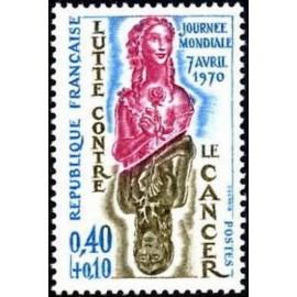 France Yvert Num 1636 ** Cancer  1970