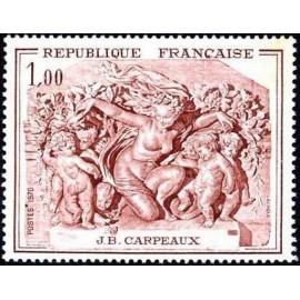 France Yvert Num 1641 ** Tableau Carpeaux  1970