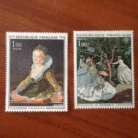 France Yvert Num 1702-1703 ** Tableau   1972