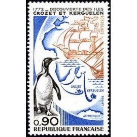 France Yvert Num 1704 ** Austral Crozet  1972