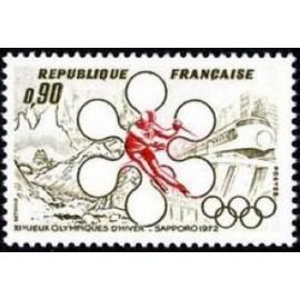 France Yvert Num 1705 ** JO Sapporo  1972