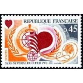 France Yvert Num 1711 ** Cœur  1972