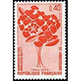 France Yvert Num 1716 ** Sang  1972