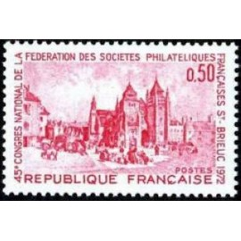 France Yvert Num 1718 ** Saint Brieuc  1972