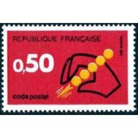 France Yvert Num 1720 ** Code Postal  1972
