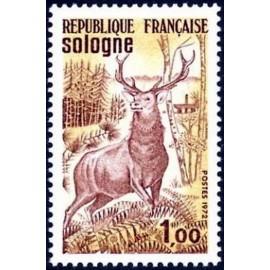France Yvert Num 1725 ** Sologne Cerf  1972