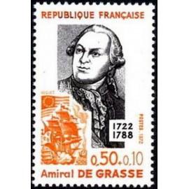 France Yvert Num 1727 ** Amiral de Grasse  1972