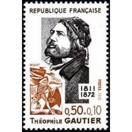 France Yvert Num 1728 ** Theophile Gautier  1972