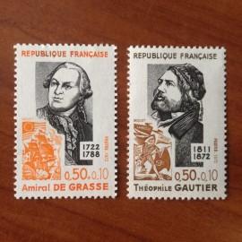 France Yvert Num 1727-1728 **   1972