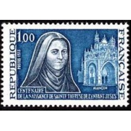 France Yvert Num 1737 ** St Therese  1973