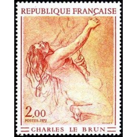 France Yvert Num 1742 ** Tableau Le Brun  1973