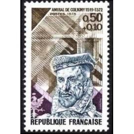 France Yvert Num 1744 ** Amiral de Coligny  1973