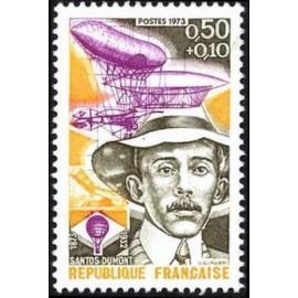 France Yvert Num 1746 ** Santos Dumont  1973