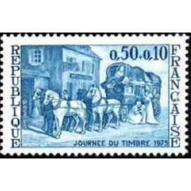 France Yvert Num 1749 ** Journne du timbre  1973