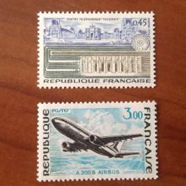 France Yvert Num 1750-1751 **   1973