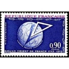 France Yvert Num 1756 ** Franc Maçon  1973