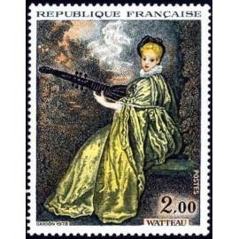 France Yvert Num 1765 ** Tableau Watteau  1973