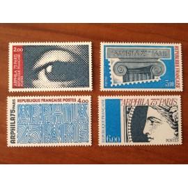 France Yvert Num 1834-1837 ** Arphila  1975
