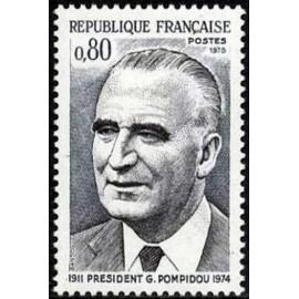 France Yvert Num 1839 ** Pompidou president  1975