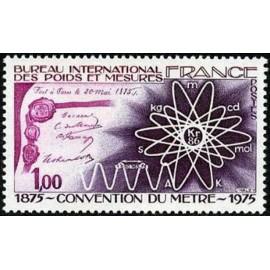 France Yvert Num 1844 ** LE Metre  1975