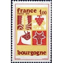 France Yvert Num 1848 ** Bourgogne  1975