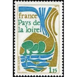 France Yvert Num 1849 ** pays de la loire  1975