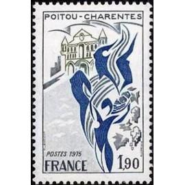 France Yvert Num 1851 ** Poitou Charentes  1975