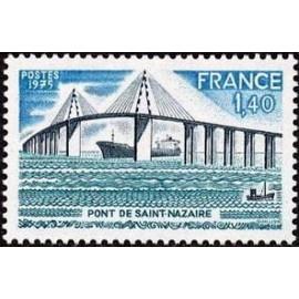 France Yvert Num 1856 ** Pont de St Nazaire  1975