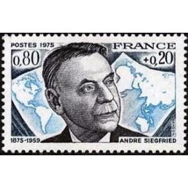 France Yvert Num 1858 ** André Siegfried  1975