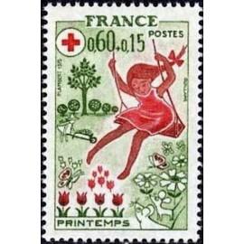 France Yvert Num 1860 ** Croix Rouge  1975