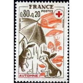France Yvert Num 1861 ** Croix Rouge  1975
