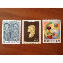 France Yvert Num 1867-1869 ** Tableau   1976