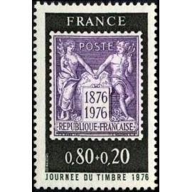 France Yvert Num 1870 ** Journee du timbre  1976