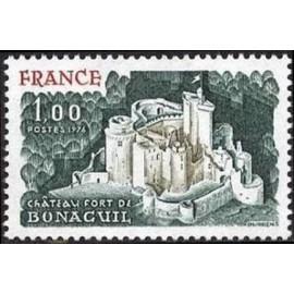 France Yvert Num 1871 ** Château Bonaguil  1976