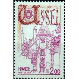 France Yvert Num 1872 ** Ussel  1976