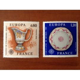 France Yvert Num 1877-1878 ** Europa   1976