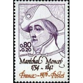 France Yvert Num 1880 ** Marechal Moncey  1976