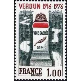France Yvert Num 1883 ** Verdun  1976