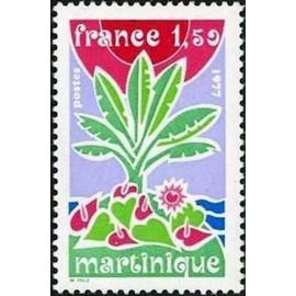 France Yvert Num 1915 ** Martinique  1977