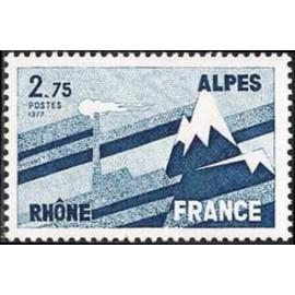 France Yvert Num 1919 ** Rhones Alpes  1977