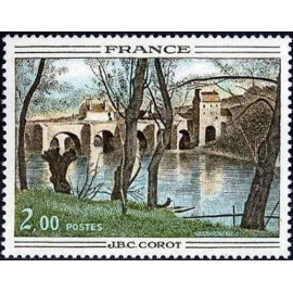 France Yvert Num 1923 ** Tableau Corot  1977