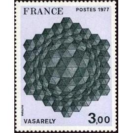 France Yvert Num 1924 ** Tableau Vasarely  1977